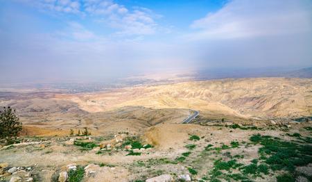 Panoramic view from the mount Nebo. Jordan. Stockfoto