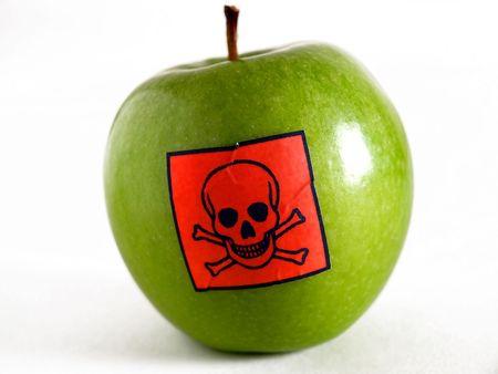 is poisonous: Poisonous apple Stock Photo