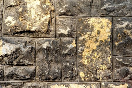 deatil: Stone wall deatil Stock Photo