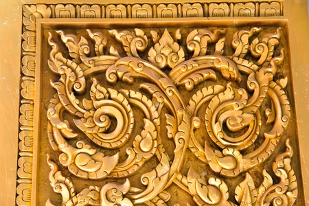 Carved wood thai temple Stock Photo - 13217522