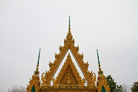 Arched entrance to the thai temple Thailand photo