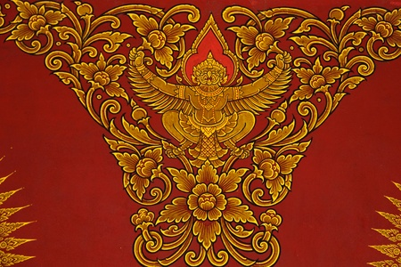 Painting the ceiling thai temple Stock Photo - 13469470