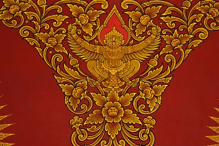 Painting the ceiling thai temple Stock Photo - 13469468