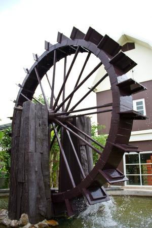 waterwheel: water turbine Stock Photo