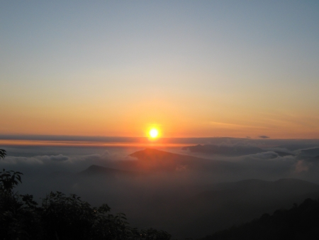 Sunrise at Phurua, Loei Province, Thailand  photo