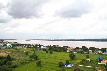 View of Mukdahan province, Thailand photo