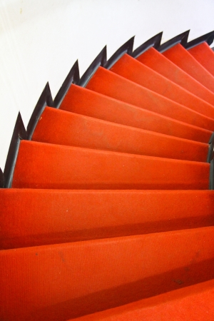 Red carpet on stair