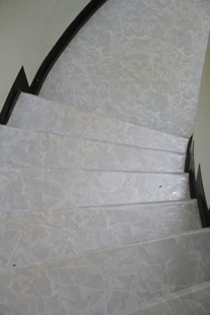 linoleum on stair photo