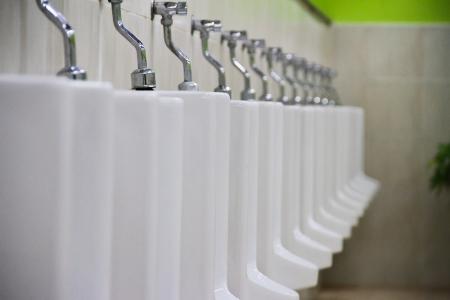 urinal: row of urinal