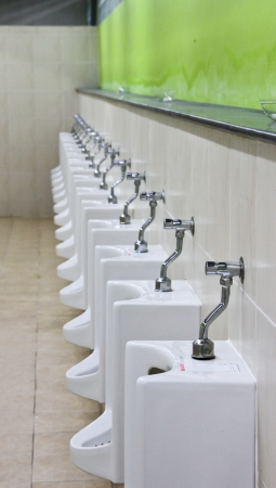 row of urinal Stock Photo - 14659654