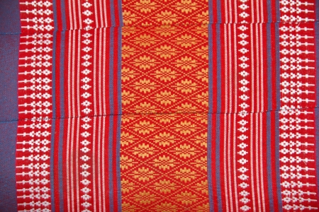 Closeup texture of thai style fabric weave  photo