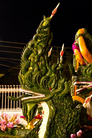 Serpent Head in Candle Festival, Ubonratchathani, Thailand