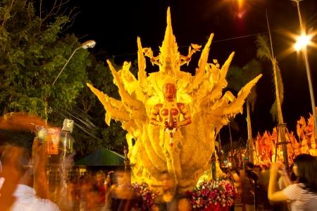 orenge: Candle festival at Ubonratchathani Thailand Editorial