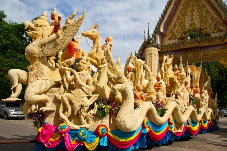 Carving Candle festival in Ubonratchathani Thailand photo