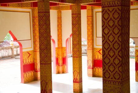 Thai art in temple Thailand