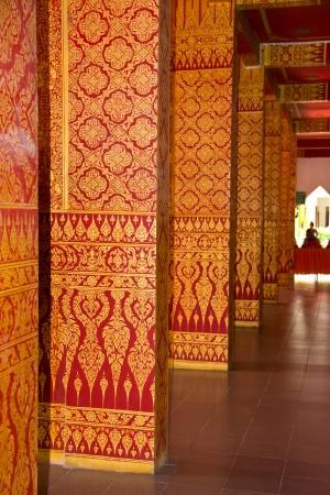 Thai painting art in temple Thailand