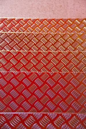 checkerplate: Closeup of a sheet of aluminium checker plate Stock Photo