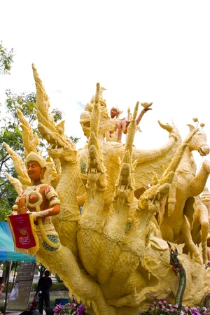 Candle festival at Ubonratchathani Thailand photo