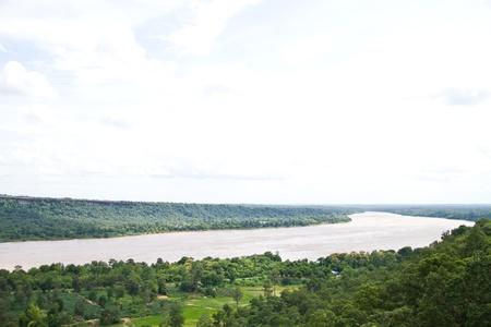 views kong river at Patam Ubonratchathani Thailand photo