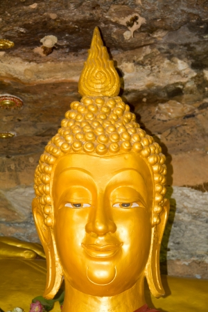 Buddha in thailand temple rock background Stock Photo - 14839587