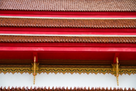 Thai temple roof, Wat Nongka, Ubonratchathani Thailand photo