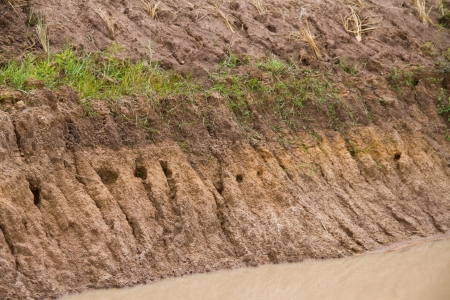 The erosion of soil  photo
