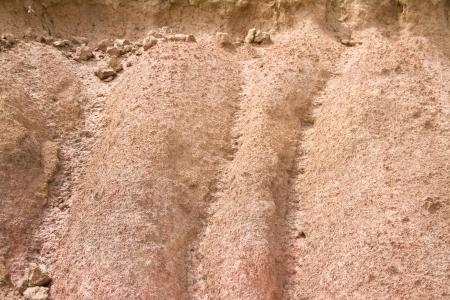 The erosion of soil in Ubonratchathani Province Thailand photo