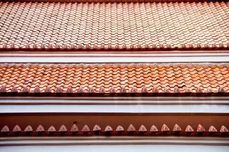 bell curve: Thai temple roof, Wat Thawanghin at Ubonratcahthani Thailand Stock Photo