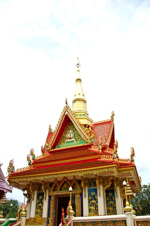 Thai temple roof photo
