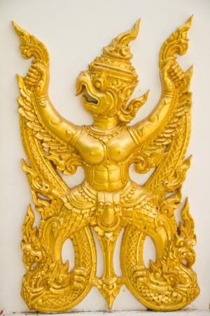 Art in thai temple, Wat Prathatnongbua at Ubonratchathani Province Thailand photo