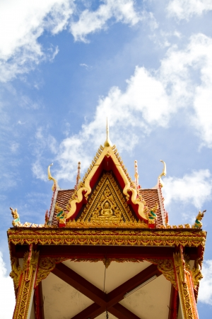Thai temple belfry photo