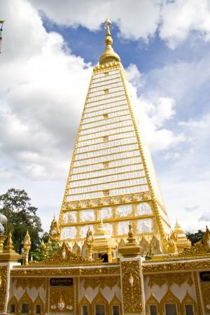 thai temple, Wat Prathatnongbua at Ubonratchathani Province Thailand photo