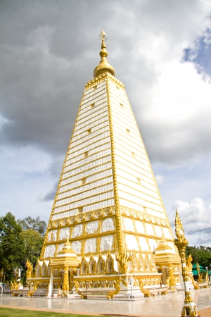 thai temple, Wat Prathatnongbua at Ubonratchathani Province Thailand photo