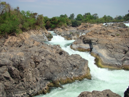 Kornpapeng Waterfall at Jampasak in Laos photo