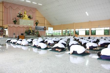 ascetic: Thai Student Merit Ascetic in thai temple