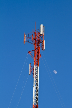 cell tower: Residential tower with antennas of cellular communication