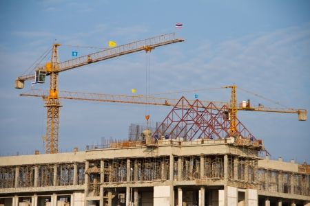 Crane on construction site photo