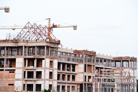 monolith: Crane on construction site Stock Photo