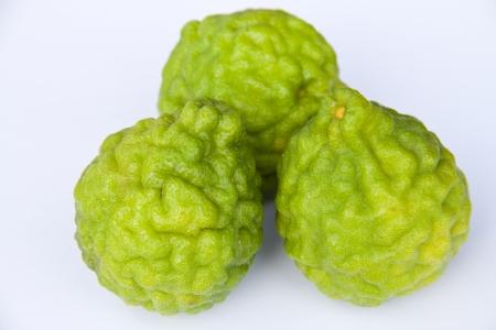 Kaffir limes on white background Stock Photo - 15798001