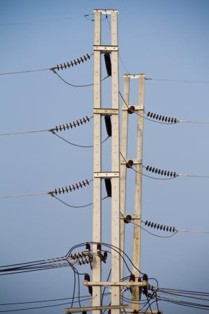 hight: hight voltage construction Stock Photo
