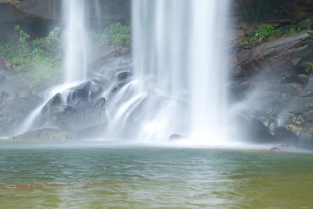 Bak Teo or Huay Luang Waterfall, Phu chong Na Yoi National Park, Ubon Ratchathani, Thailand photo