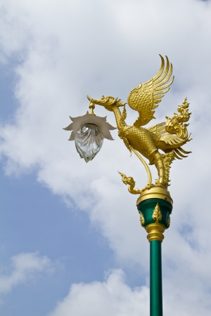 Golden Swan Post Lamp photo