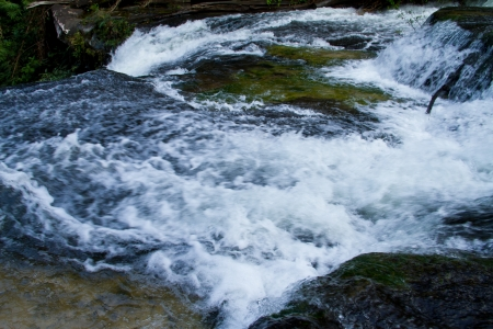 waterscape: Bak Teo or Huay Luang Waterfall, Phu chong Na Yoi National Park, Ubon Ratchathani, Thailand Stock Photo