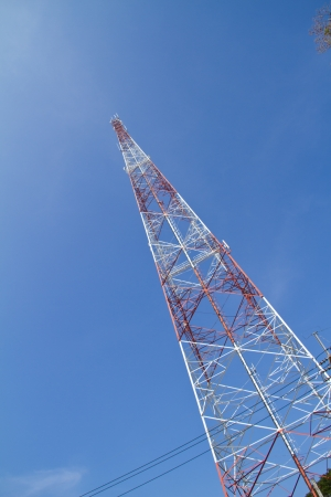 Telecommunications tower  Mobile phone base station photo