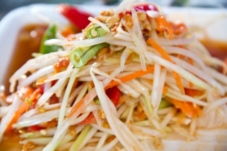 SomTum - Thai Green papaya salad Stock Photo - 16406122