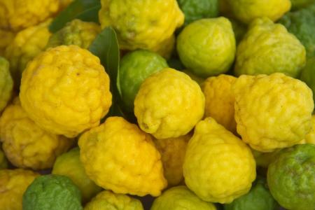 Kaffir lime Or Bergamot Fruit,This Fruit is Like Amazing Herb in Thailand