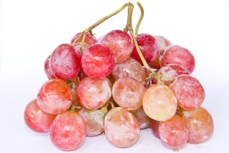Red grape isolate white background photo