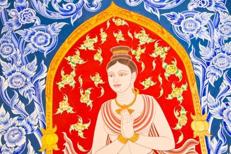 chaimongkol: Painting Art Thai Style Temple, Chaimongkol pagoda, Roi et Province Thailand