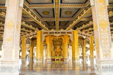 Art Thai Style Temple, Chaimongkol pagoda, Roi et Province Thailand Stock Photo - 16680259
