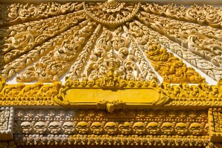 Thai Style Art at Chaimongkol pagoda, Roi et Province Thailand Stock Photo - 16713424